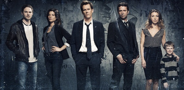 Kevin Bacon (centre) locks horns with James Purefoy (centre right) (image courtesy of Sky Atlantic)