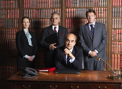 (l to r) Zoe Telford, Henry Goodman, David Haig, Chris Larkin