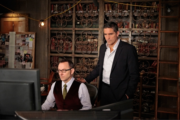 Finch and Reese look into another number (image: CBS)