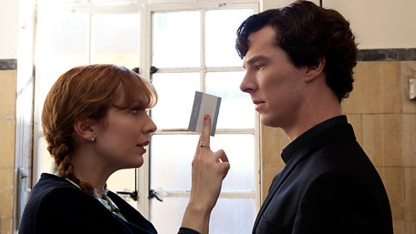 Sherlock confronts Kitty Riley (Katherine Parkinson) at Moriarty's trial (Image: BBC)