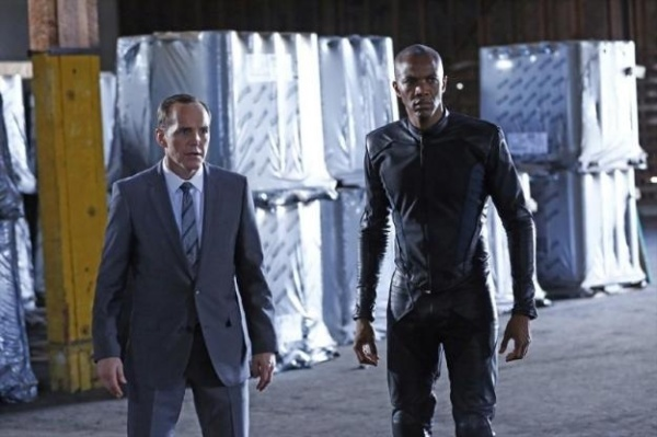 Mike Peterson (J August Richards, right) returns to help Phil Coulson and his team take on Centipede (Image: Marvel Movies Wikia)