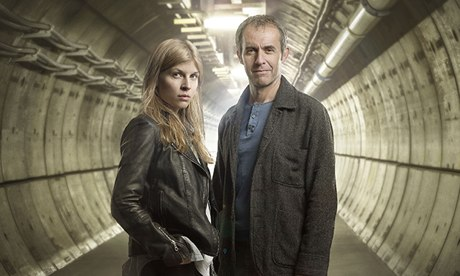 Clemence Poesy (Elise) and Stephen Dillane (Karl) form an unlikely partnership (Image: Sky Atlantic)