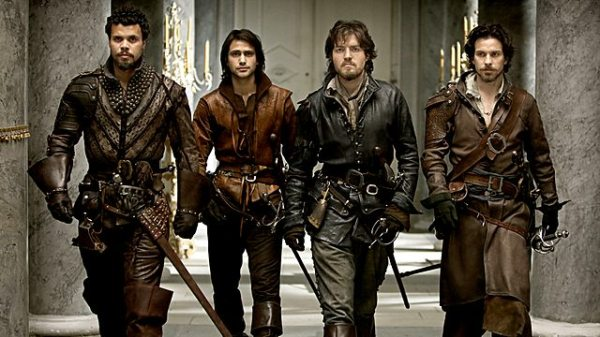 Porthos, D'Artagnan, Athos, Aramis - and a lot of leather (Image: BBC)