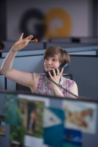 Hannah finds it's not so easy to leave her new corporate job (Image: HBO)