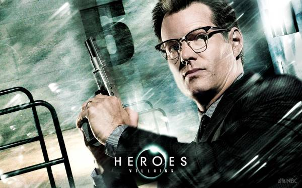 Heroes' Noah Bennet's superpower appeared to be the ability to travel across the US in the blink of an eye (Image: NBC)
