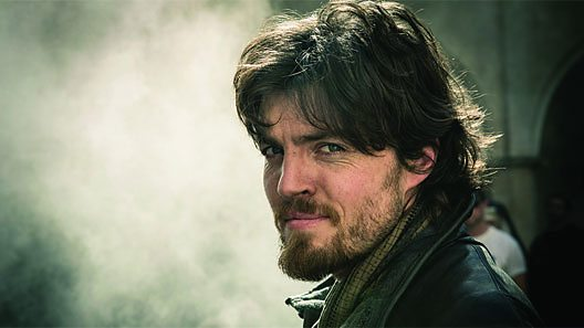 Athos is drawn to the spirited Comtesse de Larroque (Image: BBC)