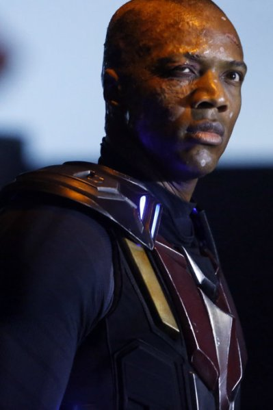 The team confronts Deathlok (Image: ABC)