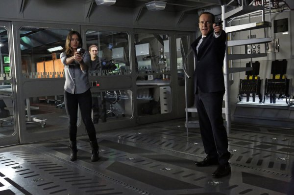 Skye and Coulson are unsure who they can trust as the extent of Hydra's infiltration of SHIELD is revealed (Image: ABC)