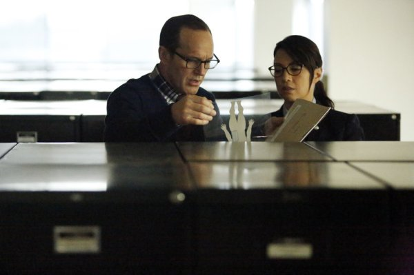 Coulson and May uncover Garrett's secret (Image: ABC)