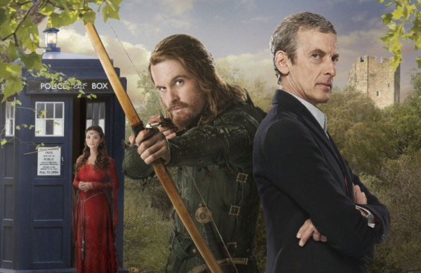 The Doctor and Clara meet the man behind the legend (Image: BBC)