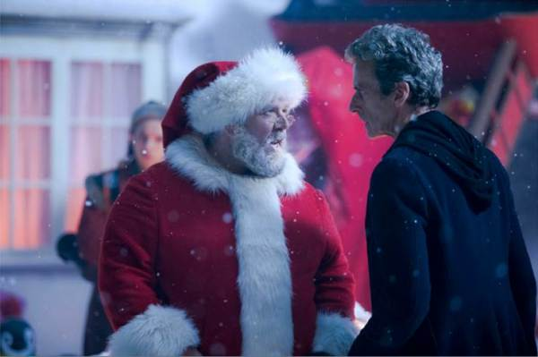 Santa and the Doctor - more alike than unalike? (Image: BBC)