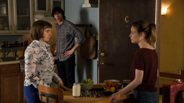 Hannah discovers that Adam has moved on in her absence. Awkward (Image: HBO)