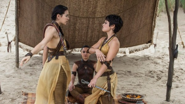 A first appearance by the Sand Snakes (Image: HBO)