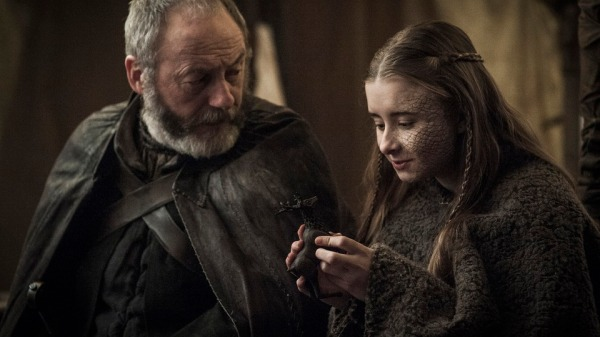 Davos says goodbye to Shireen (Image: HBO)